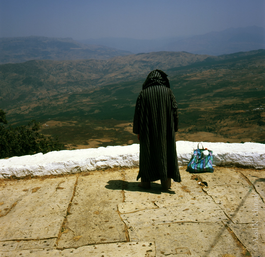 Man praying at the tomb of Sidi Ahmad ibn-Mashish in the Northern rif mountains. This is one of the few shots I managed to capture on 6x6 format film.