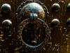 Brass doorknob