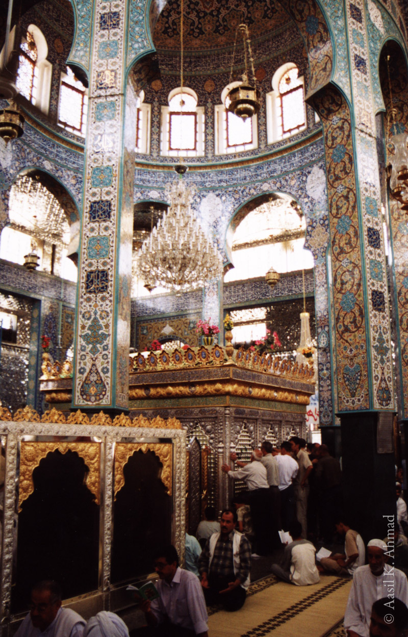 Interior of the tomb of Sayyidah Zaynab, outside Damascus.